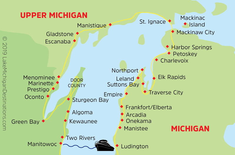 Northern Lake Michigan Circle Tour map